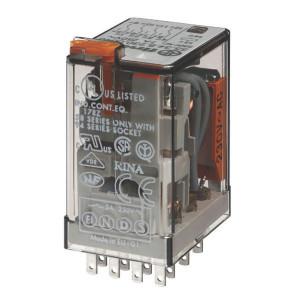 Finder Relais 4-P 230V/AC - 553482300050 | 230V AC V | 7 A | 250 V | 1.750 VA | 350 VA | 0,125 kW | 7/0,25/0,12 A | 300 (5/5) V/mA | 9/3 ms