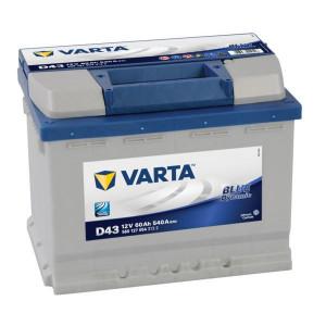 VARTA Accu 12V 60Ah 540A Blue Dynamic - 5601270543132 | Grote oplaadcapaciteit | 60 Ah | 242 mm | 175 mm | 190 mm | 14,89 kg gevuld | 4016987119518 | 533077