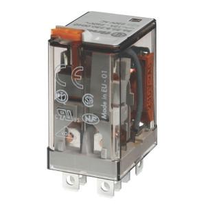 Finder Relais 2-P 230V/AC - 563282300050 | 230V AC V | 12 A | 400 V | 3.000 VA | 700 VA | 0,55 kW | 12/0,5/0,25 A | 500 (10/5) V/mA | 8/8 ms