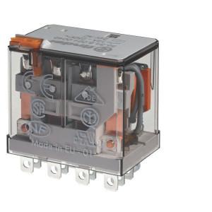 Finder Relais 4-P 12V/DC - 563490120040 | 12V DC V | 12 A | 400 V | 3.000 VA | 700 VA | 0,55 kW | 12/0,5/0,25 A | 500 (10/5) V/mA | 8/8 ms