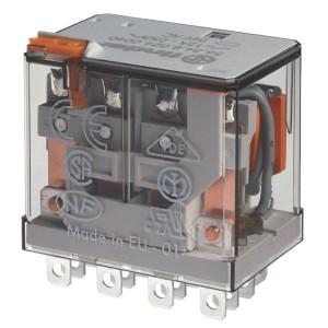 Finder Relais 4-P 24 V/DC - 563490240074 | 24V DC V | 12 A | 400 V | 3.000 VA | 700 VA | 0,55 kW | 12/0,5/0,25 A | 500 (10/5) V/mA | 8/8 ms