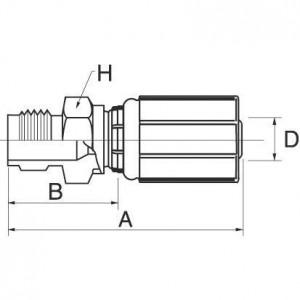 """Gates Pilaar MVA DN8-M18x1,5 - 5G18AV   5/16"""" Inch   8 mm   59,5 mm   31,5 mm   59,5 mm   31,5 mm   M18 x 1.5 metrisch   5G18AV"""
