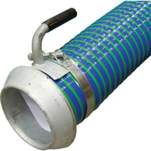 "Zuigslang blauw/groen 6"" 6m - 6000506KIT   Blauw met groene strepen   PVC spiraal   152 mm   6 Inch   610 mm   0,9 bar   5.000 g/m   170,4 mm"