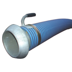 "Zuigslang blauw/rood 6"" 5m - 6000805KIT   Blauw met rode strepen   PVC spiraal   152 mm   6 Inch   8,9 mm   600 mm   0,9 bar   4.400 g/m   170,2 mm"