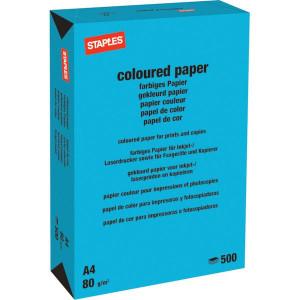 Staples Papier A4 azuurblauw 500v - 600317ST | 210x297 mm