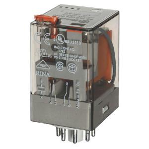 Finder Relais 2W 10A 230V/AC - 601282300050 | 230V AC V | 10 A | 400 V | 2.500 VA | 500 VA | 0,37 kW | 10/0,4/0,15 A | 500 (10/5) V/mA | 9/9 ms