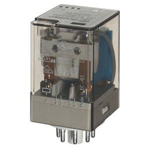 Finder Relais 2W 10A 12V/DC - 601290120070 | 12V DC V | 10 A | 400 V | 2.500 VA | 500 VA | 0,37 kW | 10/0,4/0,15 A | 500 (10/5) V/mA | 9/9 ms