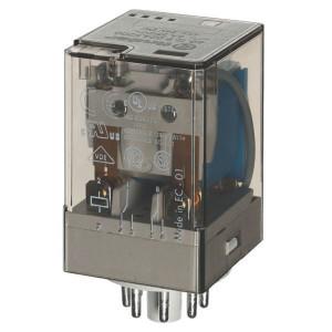 Finder Relais 2W 10A 24V/DC - 601290240070 | 24V DC V | 10 A | 400 V | 2.500 VA | 500 VA | 0,37 kW | 10/0,4/0,15 A | 500 (10/5) V/mA | 9/9 ms