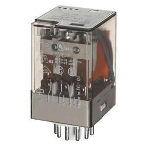 Finder Relais 3W 10A 230V/AC - 601382300040 | 230V AC V | 10 A | 400 V | 2.500 VA | 500 VA | 0,37 kW | 10/0,4/0,15 A | 500 (10/5) V/mA | 9/9 ms