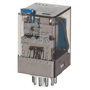 Finder Relais 3W 10A 12V/DC - 601390120040 | 12V DC V | 10 A | 400 V | 2.500 VA | 500 VA | 0,37 kW | 10/0,4/0,15 A | 500 (10/5) V/mA | 9/9 ms