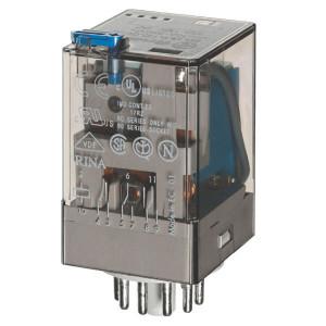 Finder Relais 3W 10A 24V/DC - 601390240040 | 24V DC V | 10 A | 400 V | 2.500 VA | 500 VA | 0,37 kW | 10/0,4/0,15 A | 500 (10/5) V/mA | 9/9 ms