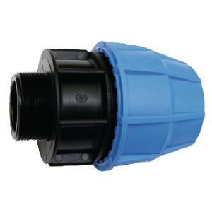 "Supreme S16 koppeling 16x¾"" bu-dr. - 654005S | 16 bar | Blauw / zwart | Polypropyleen | 16 x ¾"" mm"