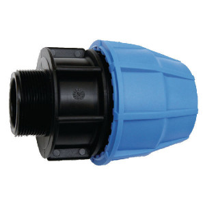 "Supreme S16 koppeling 25x¾"" bu-dr. - 654025S | 16 bar | Blauw / zwart | Polypropyleen | 25 x ¾"" mm"