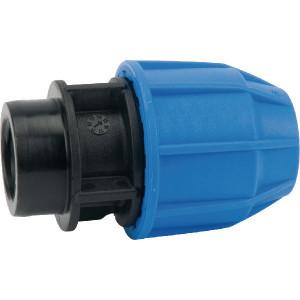 "Supreme S16 koppeling 25x¾"" bi-dr. - 654150S | 16 bar | Blauw / zwart | Polypropyleen | 25 x ¾"" mm"
