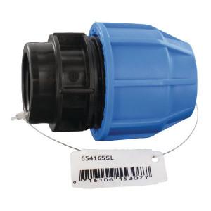 "Supreme S16 Koppeling 32x1"" bi-dr. - 654165SL | 16 bar | Blauw / zwart | Polypropyleen | 32 x 1"" mm"