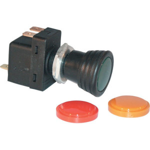 Hella Trekschakelaar - 6ED004778001 | Ø 28,5mm | groen controlelampje | 12/24 V | 8A-12V / 4A-24V A | 3x 6,3mm