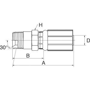 "Gates Pilaar lang DN10-1/4NPTF - 6G4MPLN | 3/8"" Inch | 10 mm | 41,1 mm | 15,9 mm | 1/4"" 18 NPTF | 6G4MPLN"