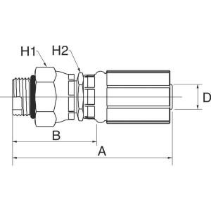 "Gates Pilaar DN10-3/4 SAE - 6G8MBX | 3/8"" Inch | 10 mm | 69,6 mm | 41,6 mm | 25,4 mm | 19,1 mm | 3/4"" 16 UNF | 6G8MBX"