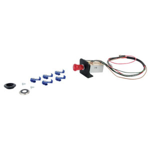 Hella Alarmlichtschakelaar - 6HD002535101 | Waterproof | Met houder en 600mm kabel | 0 = uit, 1 = aan | 6x21W A