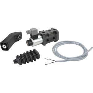 Poclain Wisselschuif met hendel en kabel - 6KVH0638GAL1DKIT | directly operated | 12 DC V | 50 l/min | 350 bar