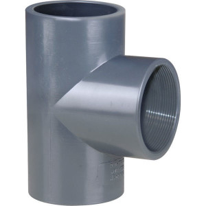 "Gopart T-stuk 90⁰ PVC 40mmx1 1/4"" bi. - 7040121GP | 16 bar | 1 1/4 Inch"