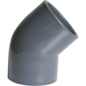 Gopart PVC knie 45⁰ 40x40mm - 7040645GP | 45 ° | 16 bar