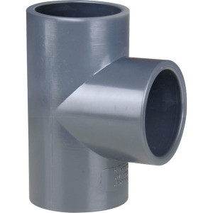 Gopart PVC T-stuk 160x160x160mm - 7160122GP | 16 bar | 150 mm | 160 mm | 86,5 mm | 3.302 g