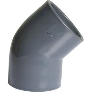 Gopart PVC knie 45° 200x200mm - 7200645GP | 45 ° | 16 bar | 175 mm | 200 mm | 107,5 mm | 3.584 g