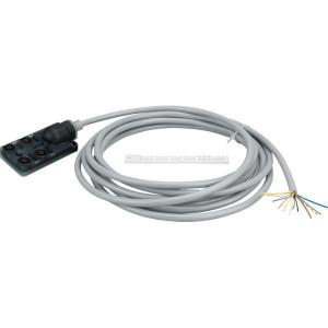 Exact12 4xM12 5-polig kabel 5m - 8000845123630500 | -20 ... +70 °C | 8 A | IP65/IP67 IP | 5 m | PUR/PVC | M12 × 1 | 9,1 mm | Plastic