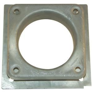 "Vierkant verloopflens 8"" - 6"" - 8300630Z | 8 "" / 6"" Inch | 200 / 150 mm | 180 / 150 mm | 230x230 / 200x200 mm"