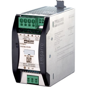 Voeding 230VAC - 24VDC 10A - 85441 | 65x123x143 mm | 230V AC V | 85...265 V AC V | 90...250 V DC | 50/60 Hz Hz | 24VDC V | 24...28 V adjustable V | 11,8 A