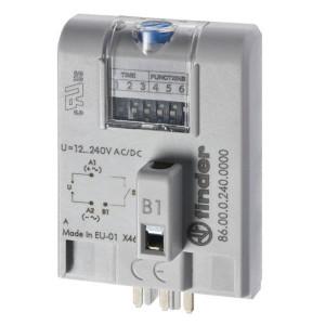 Finder Tijdmodule 12...240VUC - 860002400000 | 12...240V AC/DC V | 50 ms