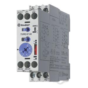 Finder Tijdrelais 8A 24-240V/AC - 870202400000 | 8 A | 400 V | 2.000 VA | 400 VA | 0,185 kW | 8 / 0,5 / 0,2 A | 300 (10/5) V/mA | 0,05s ...... 60h | 50 ms