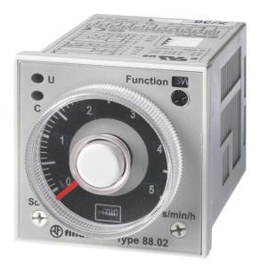 Finder Tijdrelais 24-230V/AC reset - 880202300002 | 8 A | 250 V | 24...230V AC/DC V | 2.000 VA | 400 VA | 0,3 kW | 8/0,3/0,12 A | 300 (5/5) V/mA | 300 ms