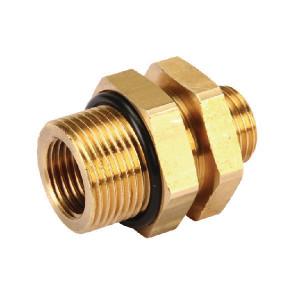 Wabco Schotkoppeling met borgmoer - 8931042972 | Vervaardigd van messing | M16x1,5 / M22,15 | M 16x1,5 | 28 mm