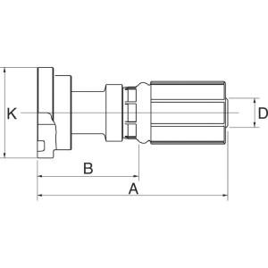 "Gates Pilaar Komatsu DN13-5/8 - 8G10FLK | 1/2"" Inch | 12 mm | 42,5 mm | 34,2 mm | 5/8"" Komatsu | 8G10FLK"