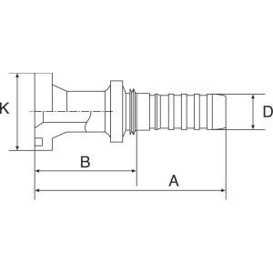 """Gates Pilaar Komatsu DN13-34,2 - 8GS10FLK   1/2"""" Inch   12 mm   81,5 mm   44,07 mm   34,16 mm   5/8"""" Komatsu   8GS10FLK"""