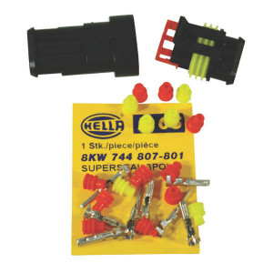Hella Super seal 3-pol. set cpl. - 8KW744807801 | 1 1.5 mm