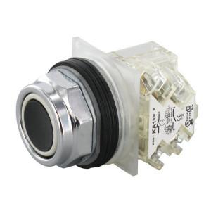 Schneider-Electric Drukknop NO+NC, zwart, 30mm - 9001KR1BH13