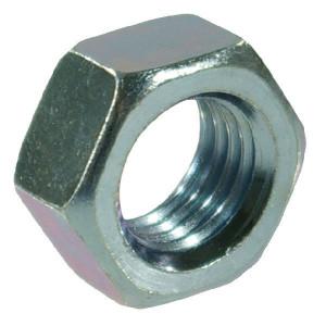 Moer M10x1 kl.8 verz. - 934101 | M10x1,0 | 17 / 16 mm | 8 mm | ISO 8673, 8674 | Verzinkt | 1,16 kg/100 | DIN 934 | Metrisch fijn