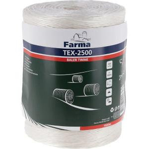 Farma Bindtouw Tex-2500 1600 m - 955050FA | 400 m/kg | TEX-2500 / PP400 | 1600 m | 97 daN | 254 mm | 400 m/kg | 51 daN