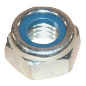 Borgmoer M18x1.5 kl.10 verz. - 985181510 | M18x1,5 | 18,5 mm | ISO 10511 | DIN 985 | Verzinkt | 4,5 kg/100 | DIN 985 / ISO 10511 | Metrisch fijn