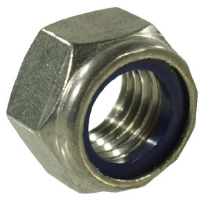 Zelfb.moer M6 RVS-A2 - 9856RVSP100 | M6x1,0 | 6 mm | DIN 985 | Roestvast staal | 0,23 kg/100 | ISO 10511 | Metrisch | DIN 985 / ISO 10511