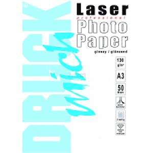 Druckmich fotopapier, A3, 130 gram, glossy, 50 vellen, dubbelzijdig
