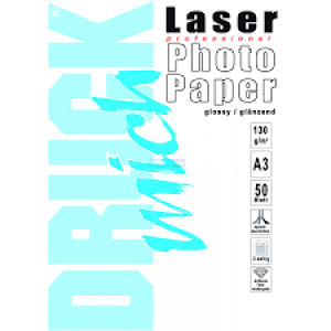 Druckmich fotopapier, A3, 160 gram, glossy, 50 vellen, dubbelzijdig