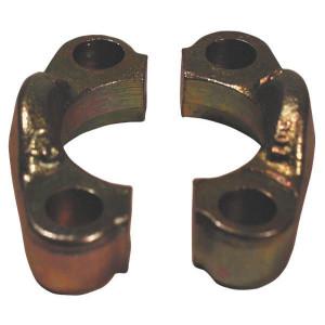 "Oleo Tecnica Flenshelft set SAE 6000-1/2 - AFH608 | SAE 6000 PSI slangpilaren | 40,49 mm | 18,24 mm | 420 bar | 8,75 mm | 18,64 x 3,53 | 1/2"" | M 8 x 30 metrisch | 5/16 18 x 1 1/4 UNC | 420 bar"