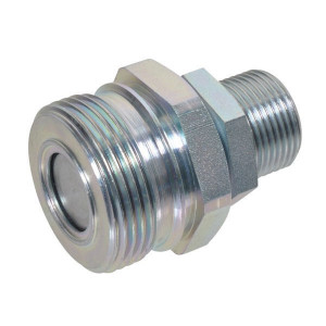"Rem Koppeling male M22x1,5-15L - AGRM12N22 | Vlakdichtend | Gromelle K-8000 | 1/2""DN13 | 25 l/min | 250 bar | M22 x 1,5 | 50,5 mm | M36 x 2,0"