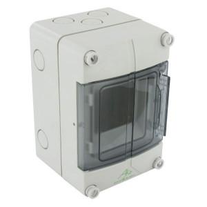 Kast IP55/3 modules/1 rij - AKE03 | IP55 IP | RAL 7035 | 150 mm | 96 mm | 100 mm