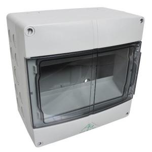 Kast IP55 9 modules 1 rij - AKE09 | IP55 IP | RAL 7035 | 200 mm | 122 mm | 200 mm