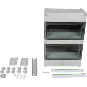 Kast IP55 24 modules 2 rij - AKE24 | IP55 IP | RAL 7035 | 370 mm | 122 mm | 250 mm